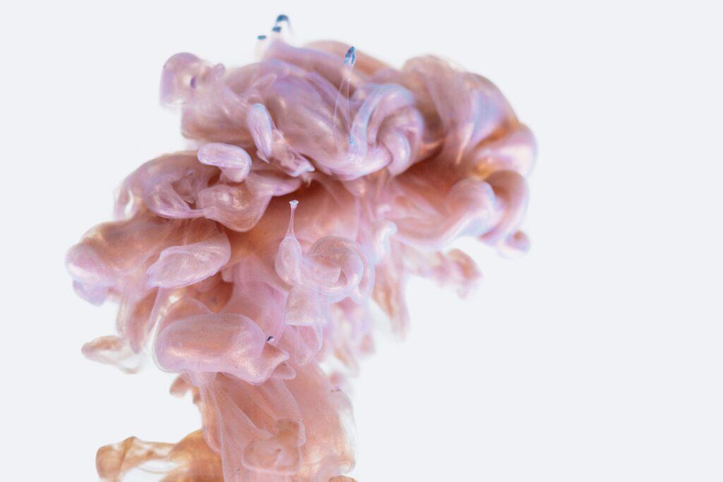 An amorphous cloud of smoke that resembles a pink brain.