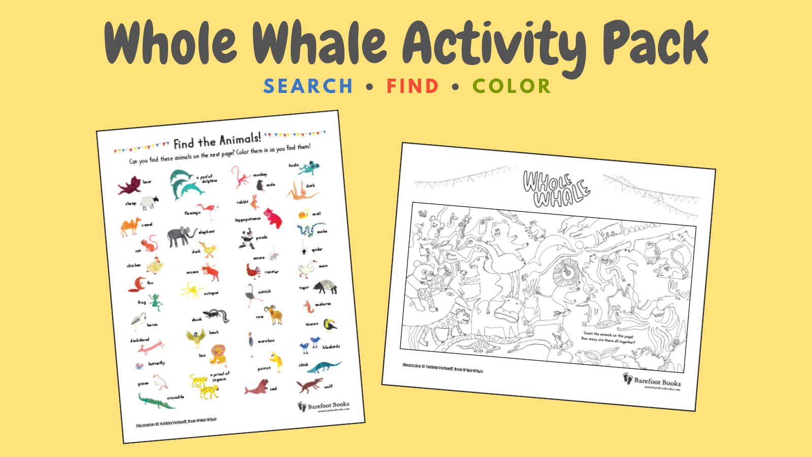 Whole Whale Activity Pack: Search • Find • Color